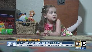 Download 3 year-old genius girl accepted into Mensa Video