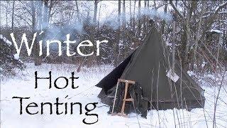 Download Sub Zero Winter Hot Tenting in a Modified Polish Army Lavvu. Video