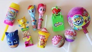 Download Toy candy dispensers Pikmi Pops ice cream lollipop surprise Shopkins My Little Pony PJ Masks Video