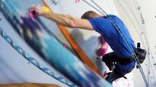 Download Dangle from the top of the newest climbing wall in Syracuse Video