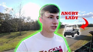 Download Angry Lady Hates Fisherman (We Had Permission) Video