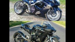 Download Kawasaki Ninja H2 vs Two Turbo Suzuki Hayabusa's Video