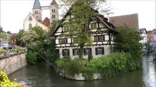 Download Old Town (Medieval) area of Esslingen am Neckar, Germany Video