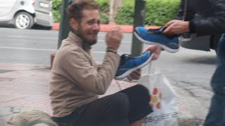 Download Homeless Veteran Gets New Adidas shoes On Veterans Day Video