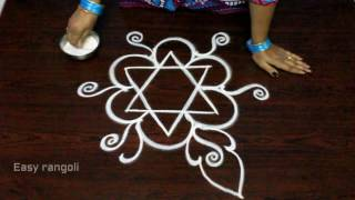 Download easy free hand rangoli designs || simple freehand kolam designs || easy muggulu designs Video