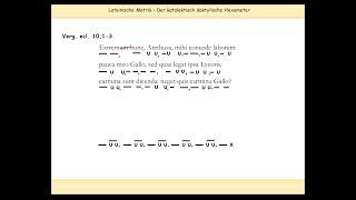 Download Hexameter (Latein) erklärt – 4. Längen und Kürzen II + Skandierung Video