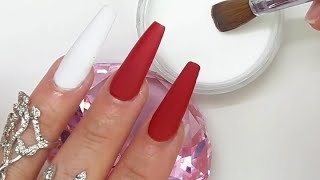 Download Uñas acrílicas rojas que enamoran para San Valentín con un toque de marmoleado Video