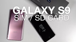 Download Inserting SIM, microSD Card in Galaxy S9 / S9+ Video