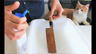 Download Polishing a Rusty Knife Video