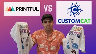 Download Printful vs Customcat Review | Shirt Quality Comparison + Pros & Cons for your POD Business Video