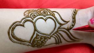 Download Beautiful Valentine Mehandi design in heart shape Video