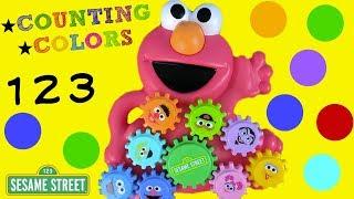 Download Sesame Street Elmo & Friends Gear Play Toy! Learn Colors & Numbers With Elmo! Kids Preschool Babie Video