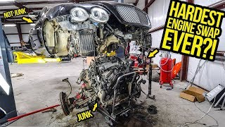 Download Pulling The Engine Out Of My $11,000 Bentley Continental GT Was The HARDEST THING I'VE EVER DONE Video
