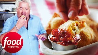 Download Guy Tries Delicious Traditional Food At Bruno's Little Italy | Diners, Drive-Ins & Dives Video
