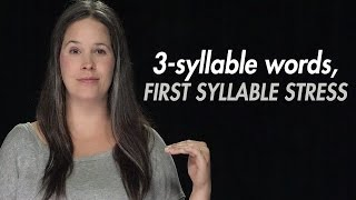 Download English Practice: Syllable Stress – 3- Syllable Words Video
