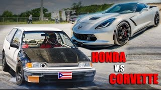 Download 200+HP B20VTEC Civic EF vs C7 Corvette & Turbo Cobalt Video