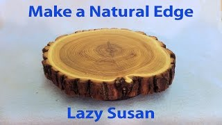 Download How to Make a Lazy Susan with Natural Edge - Wood Turn Table Video