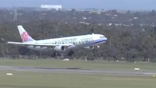 Download 100 km per hour wild winds! Amazing Landings Melbourne Airport Video