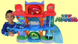 Download PJ Masks Headquarters Playset Toys Unboxing And Playing With Catboy Gekko Owlette Ckn Toys Video