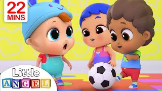 Download Playtime with Friends | Little Angel Nursery Rhymes and Kids Songs Video