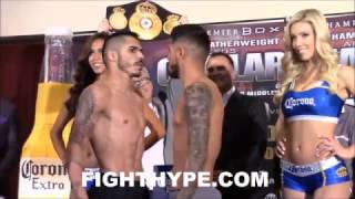 Download JESUS CUELLAR GIVES ABNER MARES A DEATH STARE; WEIGH-IN AND INTENSE FINAL FACE OFF Video