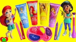 Download Disney Princess Paint Party Learn Colors Ariel, Rapunzel, Jasmine, and Belle Video