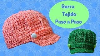 Download GORRA TEJIDA A CROCHET TALLA MEDIANA - 3 A 8 AÑOS Video