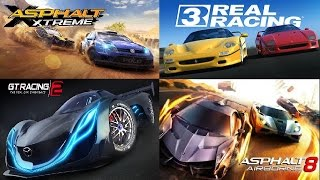 Download Real Racing 3 vs Asphalt 8 vs Asphalt Xtreme v GT Racing 2+Glitch Best Free Android+IOS Racing Games Video