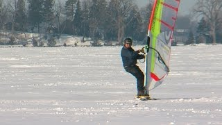 Download Finding Minnesota: Snow Surfing On Frozen Lakes Video