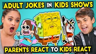 Download Parents React To Kids React To Funny Adult Jokes In Kids Shows Video