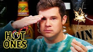 Download Adam Devine Gets Patriotic While Eating Spicy Wings | Hot Ones Video