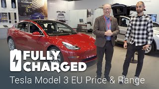 Download Tesla Model 3 EU price and range | Fully Charged Video