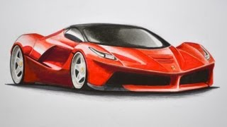 Download How to Draw a Ferrari With Colors - How to Draw a Car Video