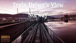 Download Train Driver's View: Evening trip Oslo - Ål with a hare on the track Video