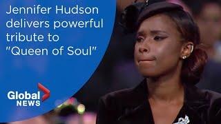 Download Aretha Franklin funeral: Jennifer Hudson soulful tribute Video