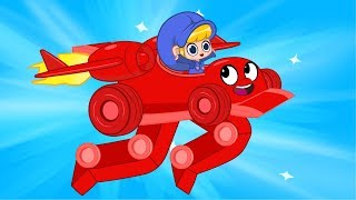Download Morphle the Super Racecar + Vehicle Adventures (Monstertruck, Policecar, Logging Machine) for Kids! Video