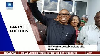 Download PDP Vice Presidential Candidate Visits Enugu State Pt.1 19/10/18 | News@10 | Video