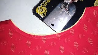 Download boat neck with piping cutting and stitching Video