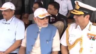 Download PM Shri Narendra Modi on board INS Vikramaditya Video