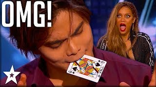 Download Card Magician Wows Tyra Banks on Stage! | America's Got Talent | Got Talent Global Video