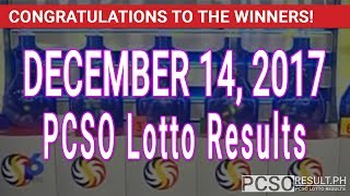 Download PCSO Lotto Results Today December 14, 2017 (6/49, 6/42, 6D, Swertres, STL & EZ2) Video