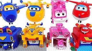 Download Super Wings! Transform launcher Lego block create play with Tayo! - DuDuPopTOY Video