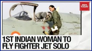 Download Flying Officer Avani Chaturvedi Creates History, 1st Indian Woman To Fly Fighter Jet Solo Video