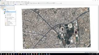 Download Raster Digitizing in ArcGIS 10.3 رسم الخرائط بإستعمال صورة قمر صناعي كمرجع Video