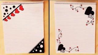 Download تزيين الدفاتر من الداخل بسيط، خطوة بخطوة//simple border design on paper Video