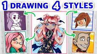 Download STEALING YOUTUBERS' ART STYLES || Style Challenge! Video