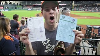 Download Getting the lineup cards and a game-used ball at Minute Maid Park Video