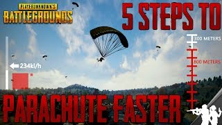 Download 5 Steps to Parachute Faster in PUBG | Parachute Guide | Speed, Distance, Flight Path Tips and Tricks Video