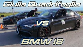 Download Giulia Quadrifoglio vs BMW i8 Video