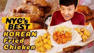 Download BEST Korean Fried Chicken In New York! RAMEN Chicken! SPICY CHEESE Stuffed Chicken Video